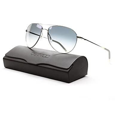 1904f32bf2 Oliver Peoples 1002S 4130 Benedict Sunglasses Silver with Chrome Sapphire  Photochromic Lens  Oliver Peoples  Amazon.co.uk  Clothing