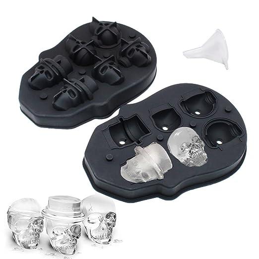 YOCZOX - Bandeja para cubitos de hielo con tapa, silicona, bandeja ...