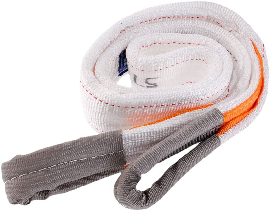 Heavy Duty Tree Saver Tow Cable Towing Pull Rope Emergency Road Recovery Strap 5 Tons 2 Meters