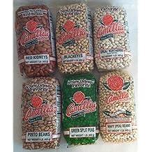 New Orleans (Beans and Peas) Six Pack Sampler 1 Each of Kidneys, Blackeyes, Great Northern, Pinto, Green Split Peas, Navy (Pea) Bean.