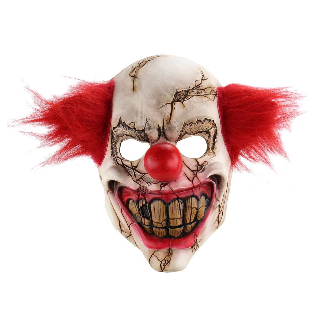 Xiao Chou Ri Ji Scary Halloween Clown Mask Costume Party Costume Party Props. Demon Clown Mask