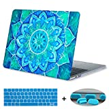 MacBook Pro 13 Case 2017 & 2016 Release A1706,Mektron Plastic Print Hard Case For Macbook Pro 13 Inch with Touch Bar Laptop Shell,Blue painted