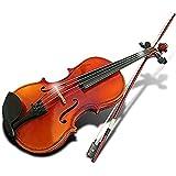 MIRACLE シトラス バイオリン 演奏 初心者 音楽 趣味 おすすめ 楽器 セット ケース ( ノーマルブラウン ) MC-SITORAS-NB