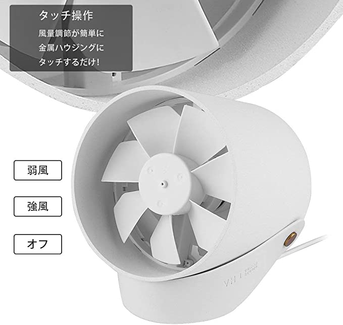YESPER Fan USB Mini Ventilador de Mesa Tocar Interruptor portátil ...
