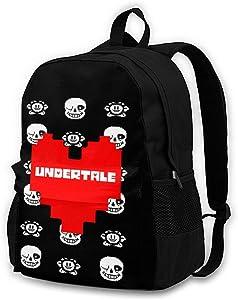 Undertale Backpack, Durable Shoulder Bag School Bag Laptop Bag Daypack for Adult Student
