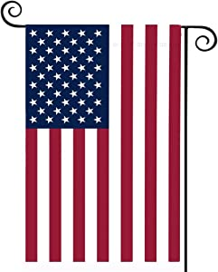 American Flag USA Garden Flag 12 x 18 - Patriotic Double Sided Small American Flags for Yard