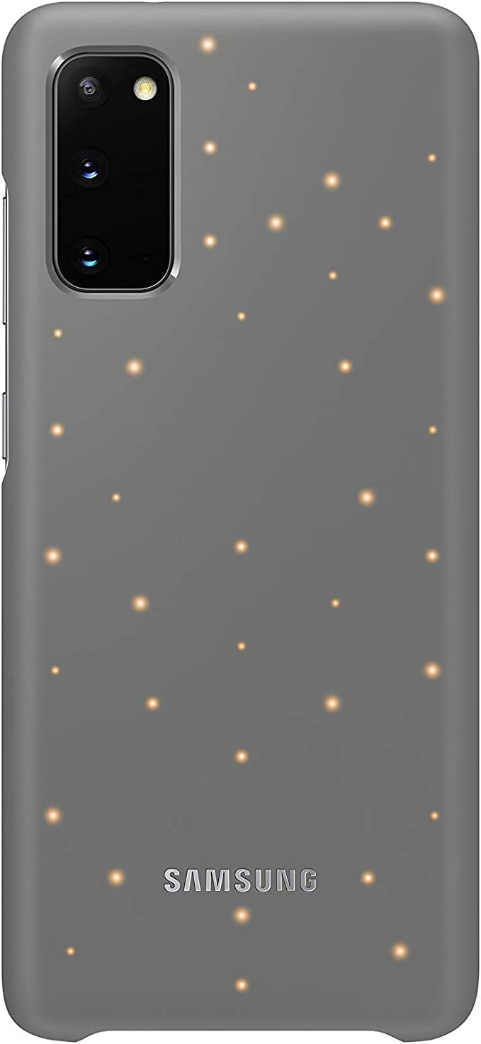 Samsung Led Smartphone Cover Ef Kg980 For Galaxy S20 S20 5g Mobile Phone Case Led Notifications Light Effects Protective Case Grey Elektronik