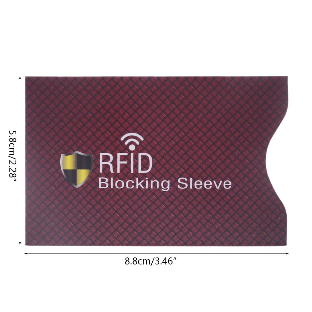 1 Piece Anti Theft for RFID Blocking Sleeves Credit Card Debit Card ID /& Passport Protector for Your Wallet or Purse SimpleLif Secure Sleeve