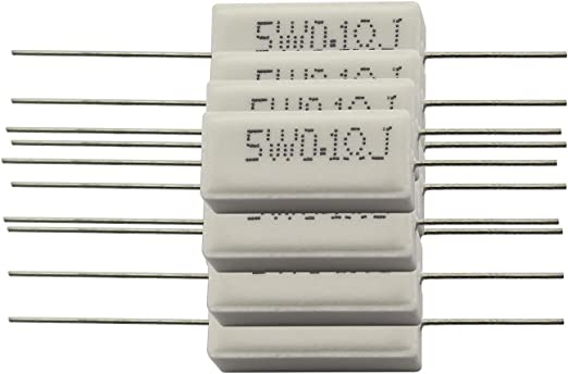 100KR 10pcs 10W Wirewound Cement Resistor Ceramic Resistance horizontal 0.1ohm