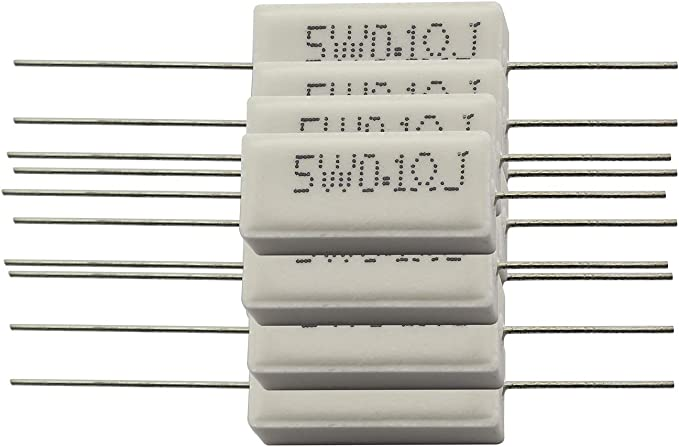 10pcs Wirewound Ceramic Cement Resistors 1-100 Ohm 5W Watt DV XE