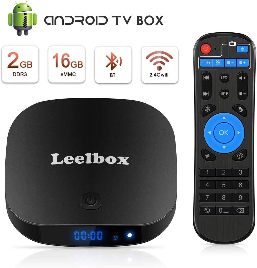 Leelbox TV Box Q2 Pro Android TV 8.1 Cuatro núcleos 2GB RAM + 16GB ROM / 2.4G WLAN / Full HD / 3D / 4K H.265 Android TV versión: Amazon.es: Electrónica
