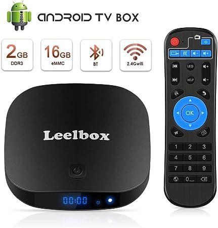 Leelbox TV Box Q2 Pro Android TV 8.1 Cuatro núcleos 2GB RAM + 16GB ...