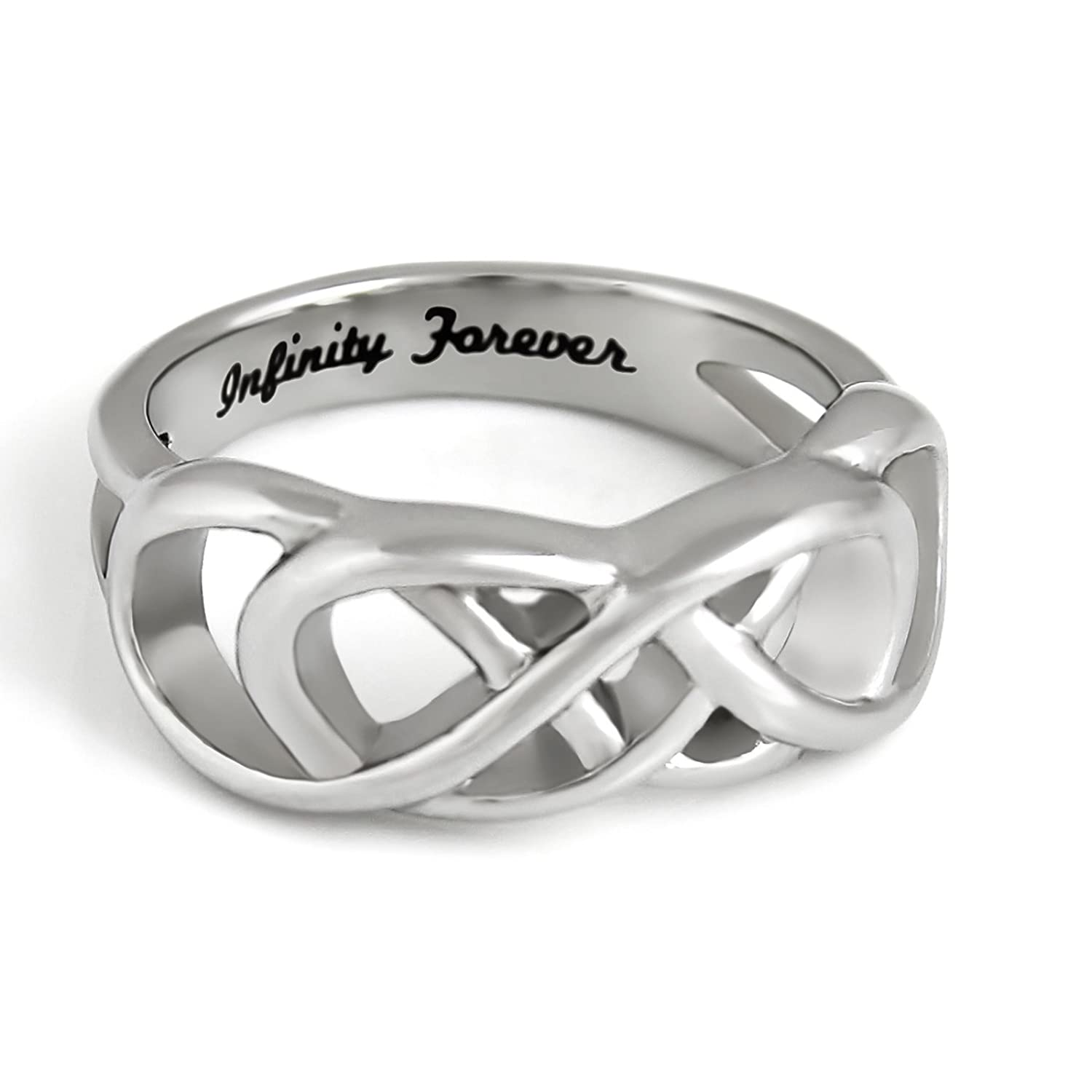 Amazon double infinity sisters ring purity ring sisters double infinity symbol ring purity ring infinity forever engraved on infinity ring buycottarizona