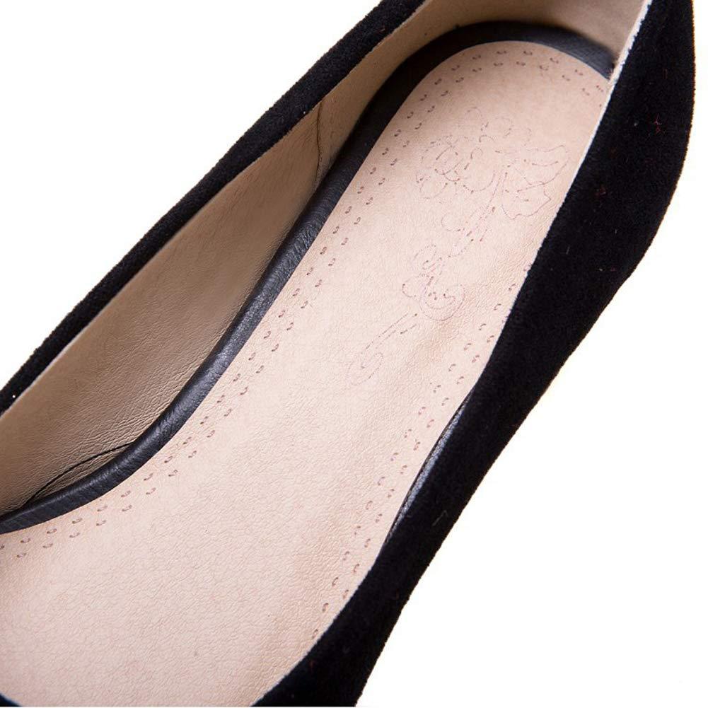 HLG Frauen Frauen Frauen niedrige Mitte Block Fersen spitzen flachen Mund Bogen Scrub Mary Jane Gericht Schuhe ee4f0b