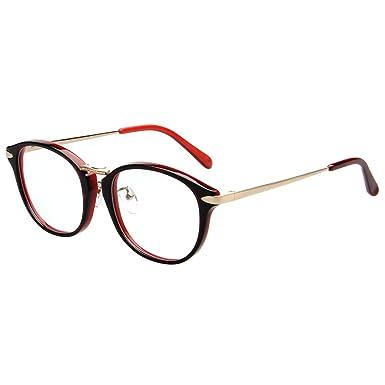 ef2413a4d6 Amorays Designer Mens Womens Oversized Round Retro Fashion Optical Glasses  Frames AM903 Brown  Amazon.co.uk  Clothing