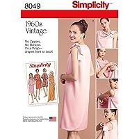 Simplicity 8049u5Patrón de Vintage 1960Patrón de Costura Vestido