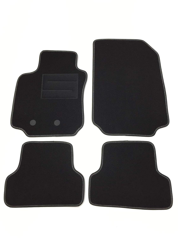 Tapis moquette pour Clio III Tapis en moquette avec boutons Logo et seuils