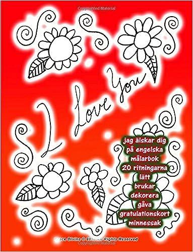 gratulationskort engelska Amazon.com: jag älskar dig på engelska målarbok 20 ritningarna  gratulationskort engelska