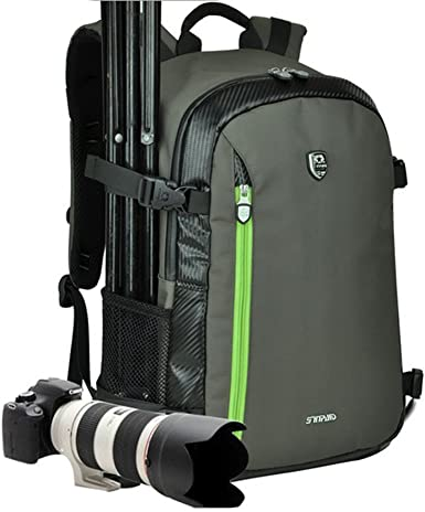Camera Backpack Case Professional Gear Photography Travel Backpack Rucksack with Inner Padding Large Capacity Multi-Function Waterproof Anti-Shock SLR//DSLR Gadget Camera Bag Camera Cases