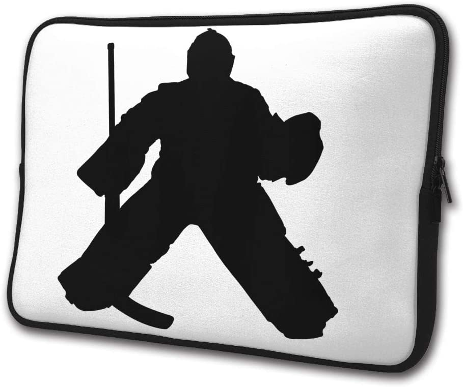 SWEET-YZ Laptop Sleeve Case Hockey Goalie Notebook Computer Cover Bag Compatible 13-15 Inch Laptop