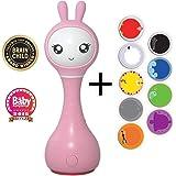 Alilo Intelligente Babyrassel Smart Bunny R1 (Pink) - Edutainment für Ihr Kind - Rassel Spieluhr Babyspielzeug Baby