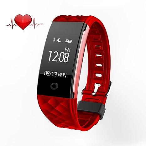sumeber Bluetooth reloj inteligente pulsómetro IP67 impermeable pulsera inteligente Deportes Pulsera Fitness Tracker – Modo deportivo