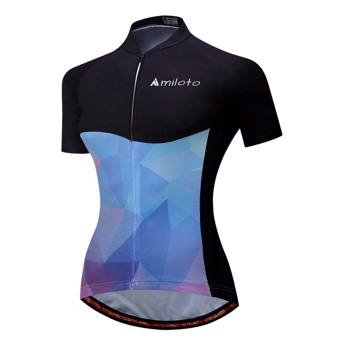 f0778aa3f BIYINGEE Women s Cycling Jersey Short Sleeve with Reflective Stripe product  image