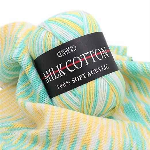 Super Suave bebé 100% Hilo acrílico Conjunto de Hilos de algodón de Punto a Ganchillo Colores aleatorios Surtidos Paquete de 24 x 50 g Paquetes para Bufanda Sombrero Guantes Suéter/Tejer l: Amazon.es: