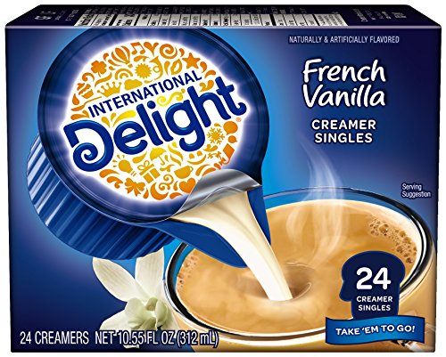 INTERNATIONAL D French Vanilla Creamers, 24 ct (White Mini Creamer)