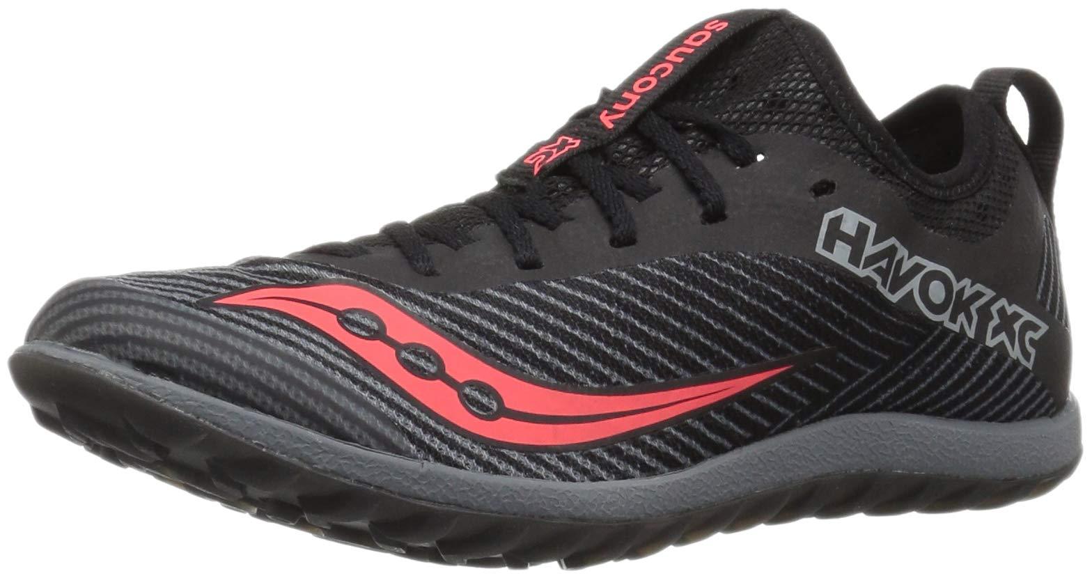 Saucony Women's Havok XC2 Flat Cross Country Running Shoe, Black/Grey/ViziRed, 5 M US