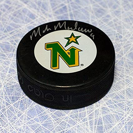 b96f36031bd Image Unavailable. Image not available for. Color  Mike Modano Minnesota  North Stars Autographed Hockey Puck - Signed Hockey Pucks
