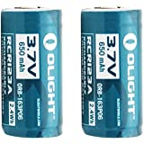 Olight 16340 RCR123A 3.7V Rechargeable Li-ion Battery (Pair) for S10, M10 etc(216340)
