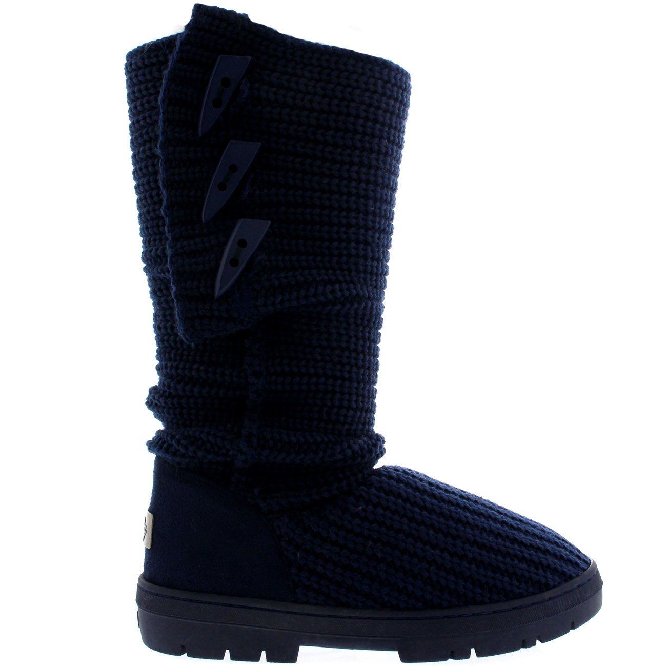 Holly Womens Snow Boot Knitted Short Winter Snow Rain Warm Waterproof Boots