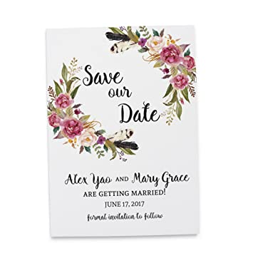 Amazon Com Loveateverysight Save The Date Cards Floral Wedding