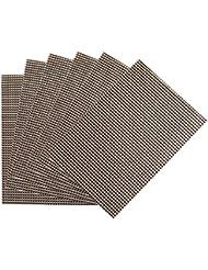 """Benson Mills Longport woven Vinyl Placemat (Set of 6), Nickel, 13 x 18"""""""