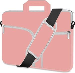 HESTECH Laptop Case 17.3 inch,Shoulder Handle Computer Messenger Briefcase Bag Cute Sleeve for Women 17
