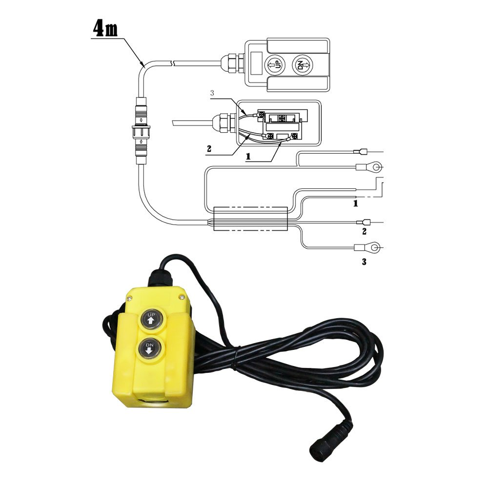 Hydraulikpumpe 12 V 180 bar 2000 Watt mit 7 Liter Tank Hydraulikaggregat
