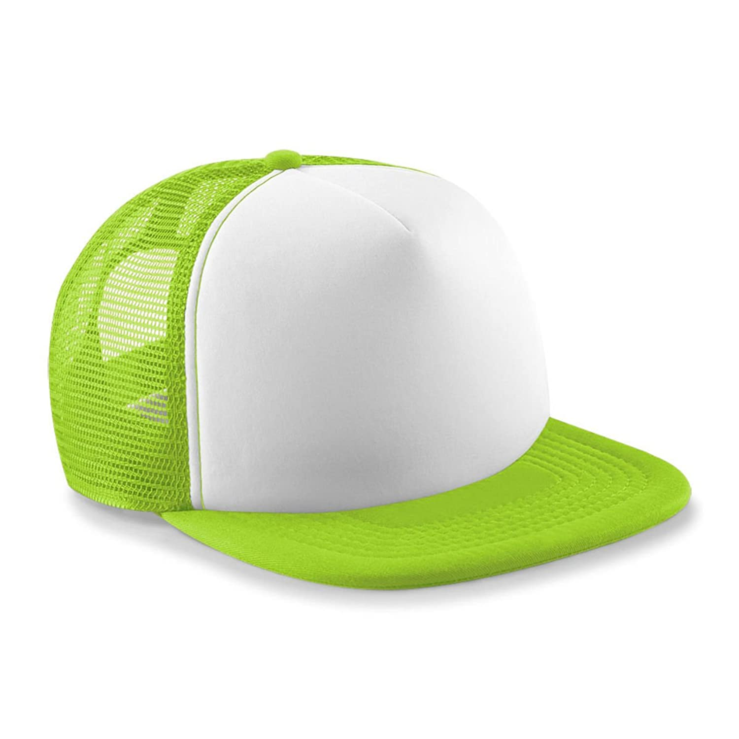 Kids Vintage Snap Back Trucker Cap Lime/White