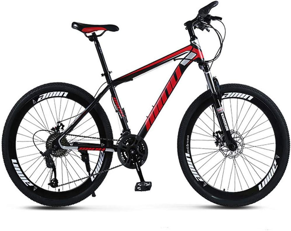 YARUMD FOOD 2020 Mountain Bike, 24 Pouces avec Roue À Double Disque Spoke Frein, avec Siège Réglable, Épaissie Carbone Cadre en Acier, pour Étudiant Extérieur Voyage Red