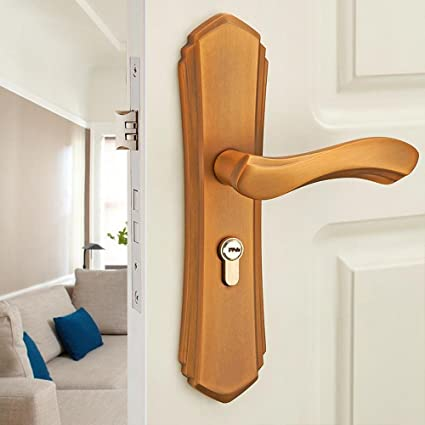 BiuTeFang cerradura de puerta de aleación de aluminio cerradura de puerta de acero madera mango de