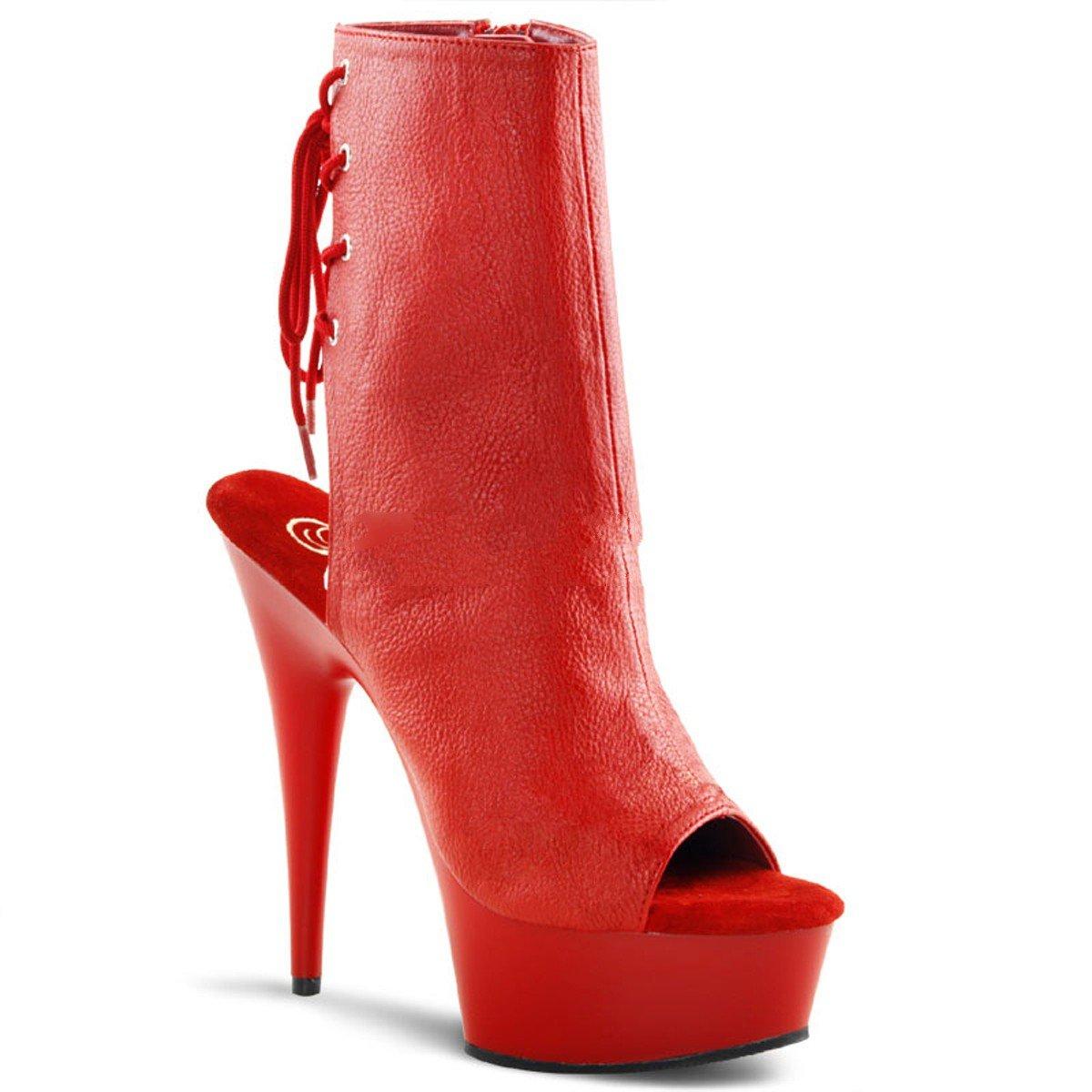 Pleaser Delight-1018 - Sexy Plateau High Heels Stiefeletten 36-45 36-45 36-45 Größe EU-45   US-14   UK-11 80406f