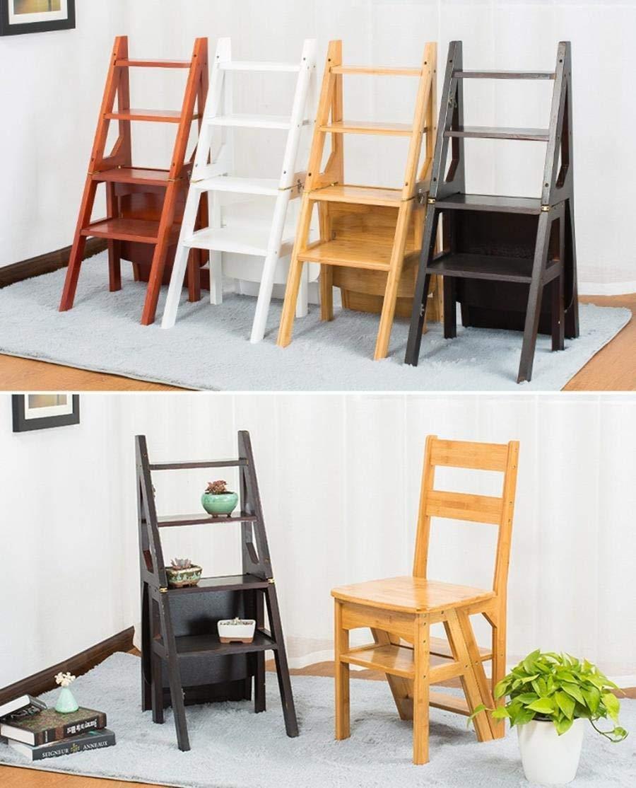Amazon.com: FSYXY Folding Wood Step Stool Ladder Stool ...