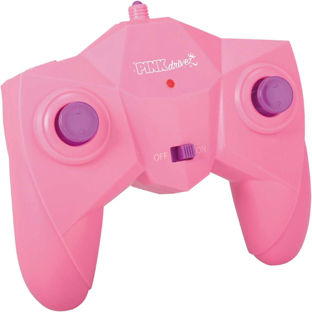 ab 6 Jahren pink//t/ürkis bis 8 km//h mit Fernbedienung Dickie Toys Pink Drivez RC Candy Flippy Rotations- und Flip-Funktion ferngesteuertes Spielzeugauto f/ür Jungen und M/ädchen 28 cm beleuchtet