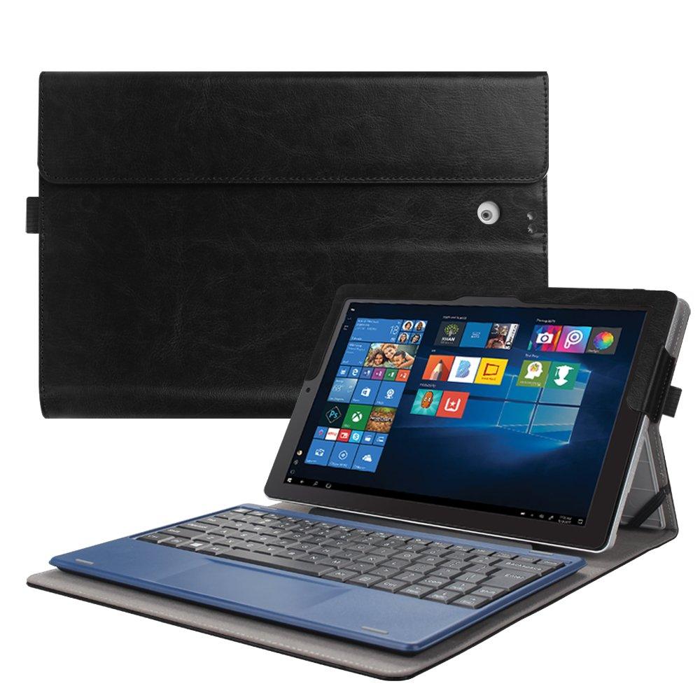 Fintie 2018 RCA Cambio 10.1'' W101SA23T1S Case - [Multi-Angle Viewing] Portfolio Business Cover for 10.1 inch RCA Cambio 2-in-1 Window Tablet with Kickstand, Black