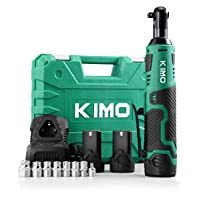 Deals on KIMO Cordless Electric Ratchet Wrench, 3/8-inch 2-Pack Batteries