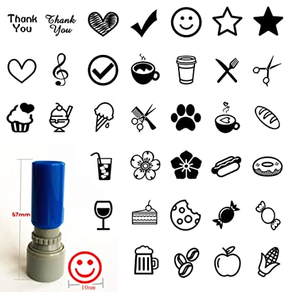 Amazon Set Of 3 Loyalty Card Stamp You Pick Image Color Self