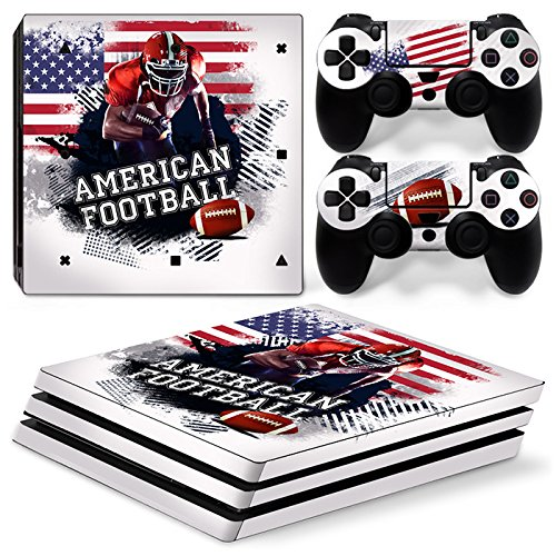 ZoomHit Ps4 PRO Playstation 4 Console Skin Decal Sticker American Football + 2 Controller Skins Set (Pro Only)