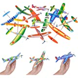 "Flying Glider Planes Foam Airplane Toy, Outdoor Sport Toy, Foam Education Glider Aeroplane for Boys Toddlers, Family Flying Game Toy, for Kids Teens, 8"" Styrofoam Airplanes (12-Pack)"