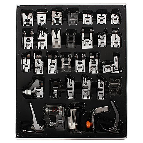 32 Pcs Sewing Machine Presser Feet Set for Brother, Babylock, Singer, Janome, Elna, Toyota, New Home, Simplicity,...