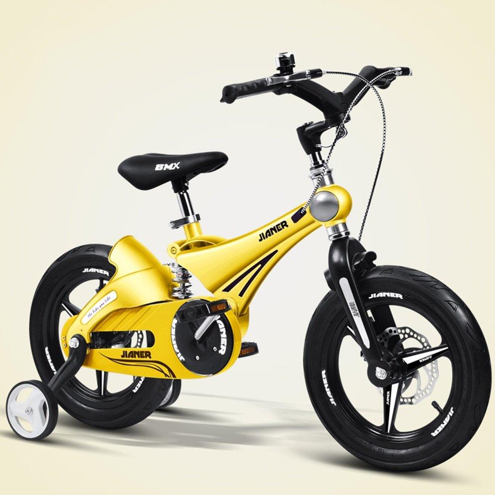 XQ TY-107ガールアンドボーイ12/14/16インチ自転車ショック防止折りたたみ子供用自転車 イエロー 子ども用自転車 ( サイズ さいず : 16-inch ) B07CK1V7WM 16-inch 16-inch
